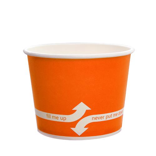 PAPER FOOD CUP 12 OZ- ORANGE