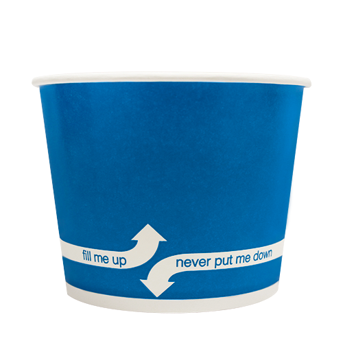 PAPER FOOD CUP 16 OZ- BLUE