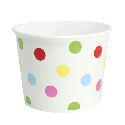 PAPER FOOD CUP 16 OZ- DOTS