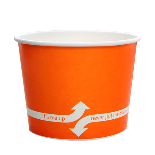 PAPER FOOD CUP 16 OZ- ORANGE