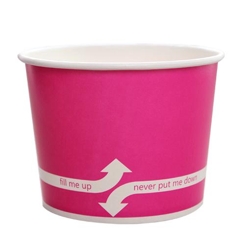 PAPER FOOD CUP 16 OZ- PINK