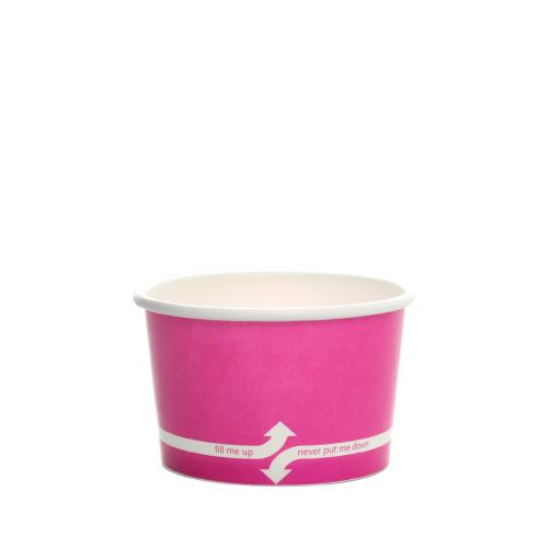 PAPER FOOD CUP 4 OZ- PINK