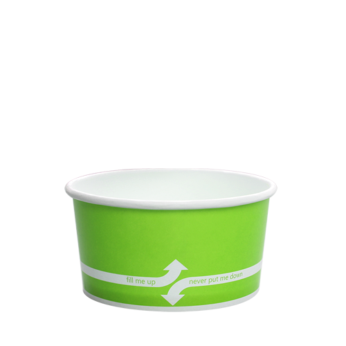 PAPER FOOD CUP 6 OZ- GREEN