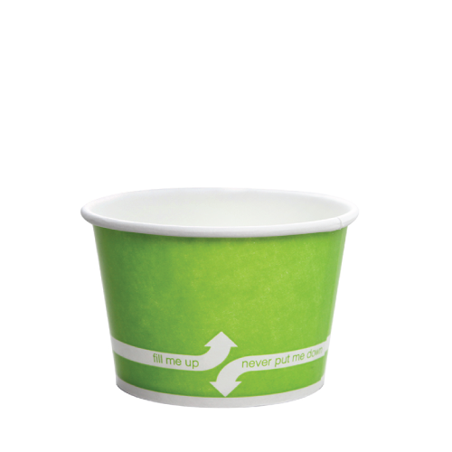 PAPER FOOD CUP 8 OZ- GREEN