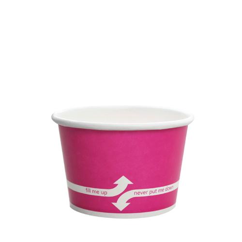 PAPER FOOD CUP 8 OZ- PINK