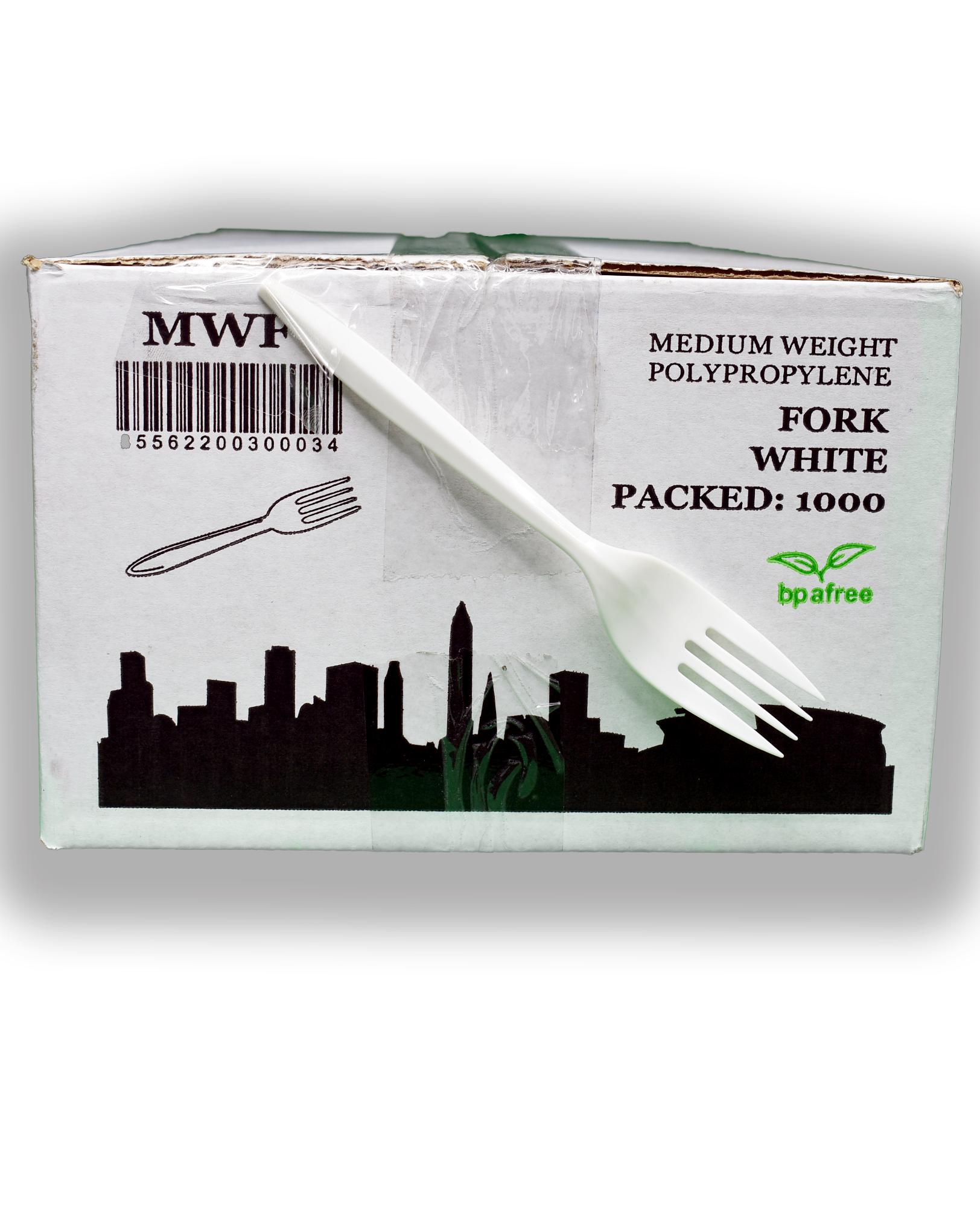 FORK WHITE MED WT