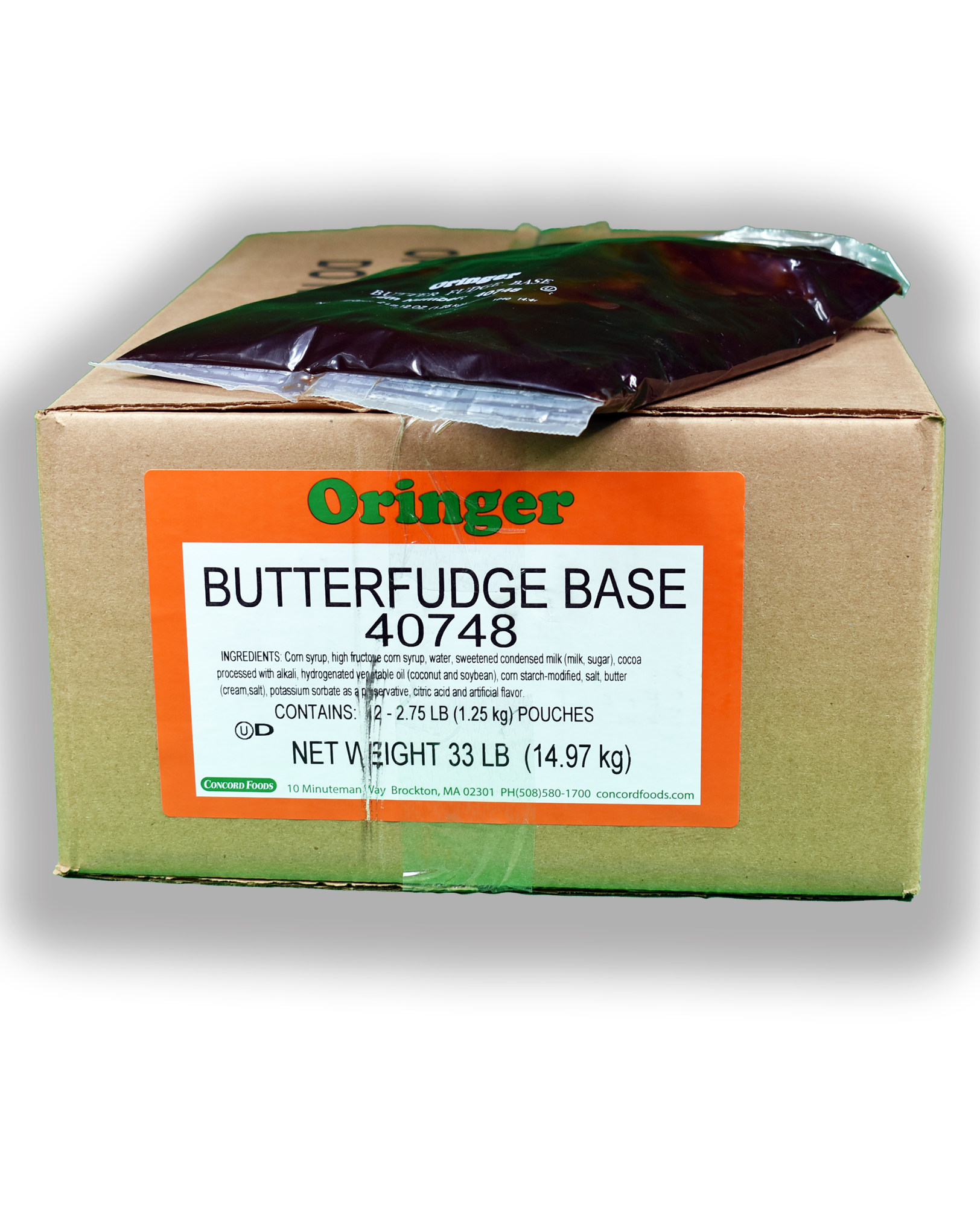 ORG BUTTER FUDGE BASE  POUCH