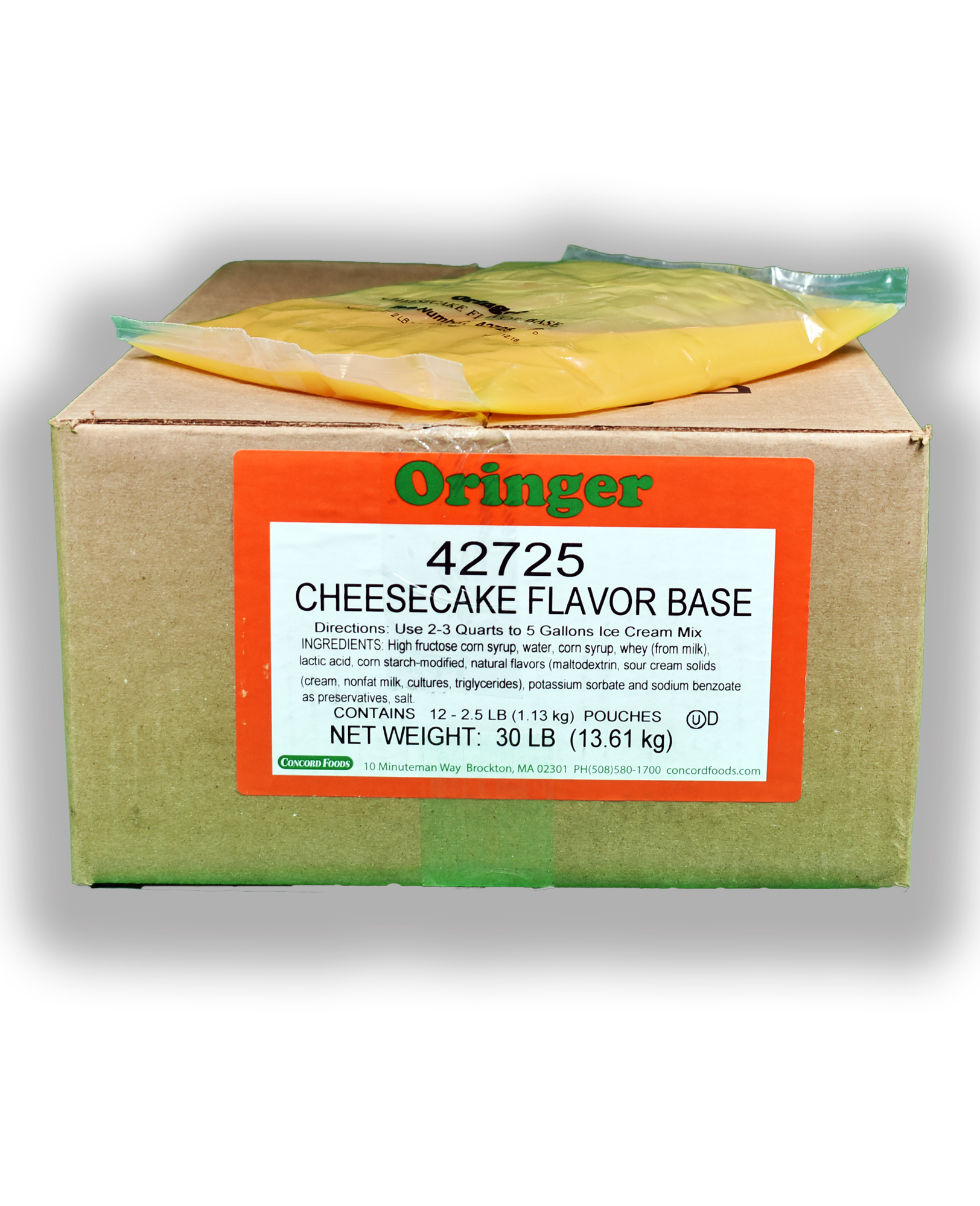 ORG CHEESECAKE IC BASE POUCH
