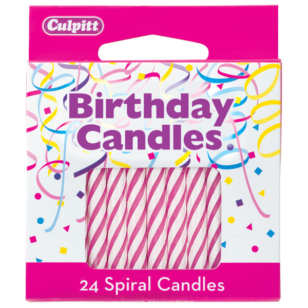 CANDLE PINK SPIRAL
