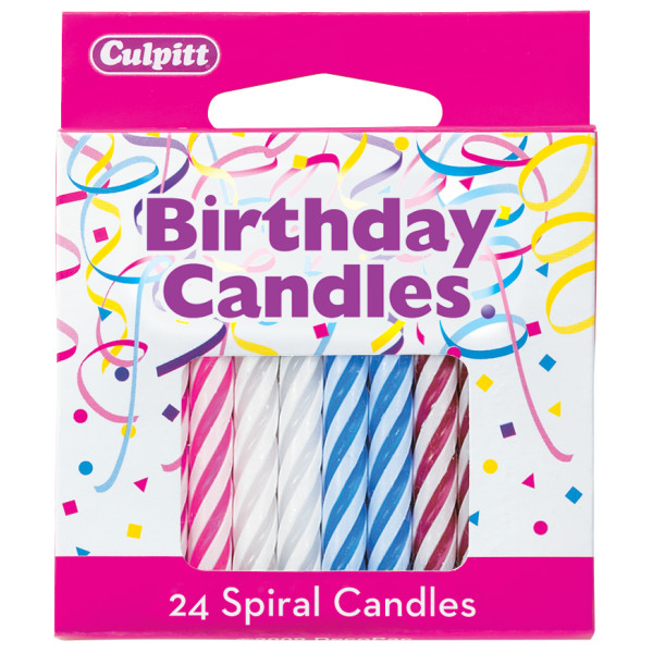 CANDLE RBOW SPIRAL #96875