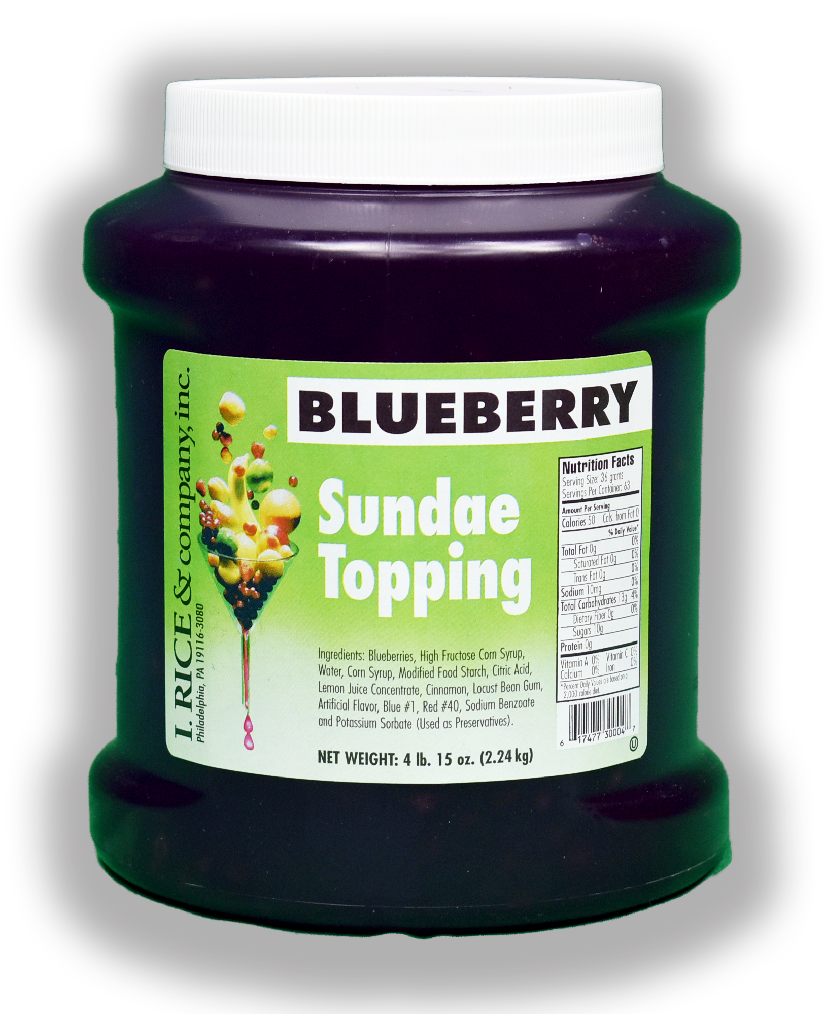 RICE BLUEBERRY TOPPING