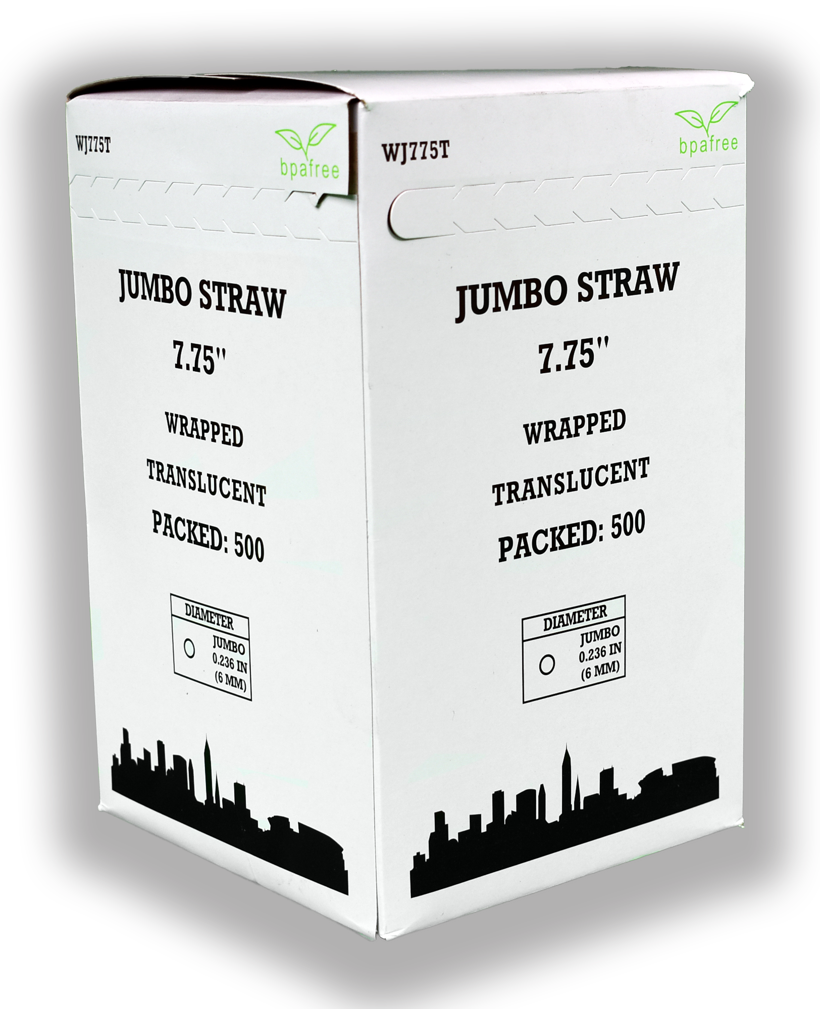 WRAP JUMBO STRAW 7-3/4