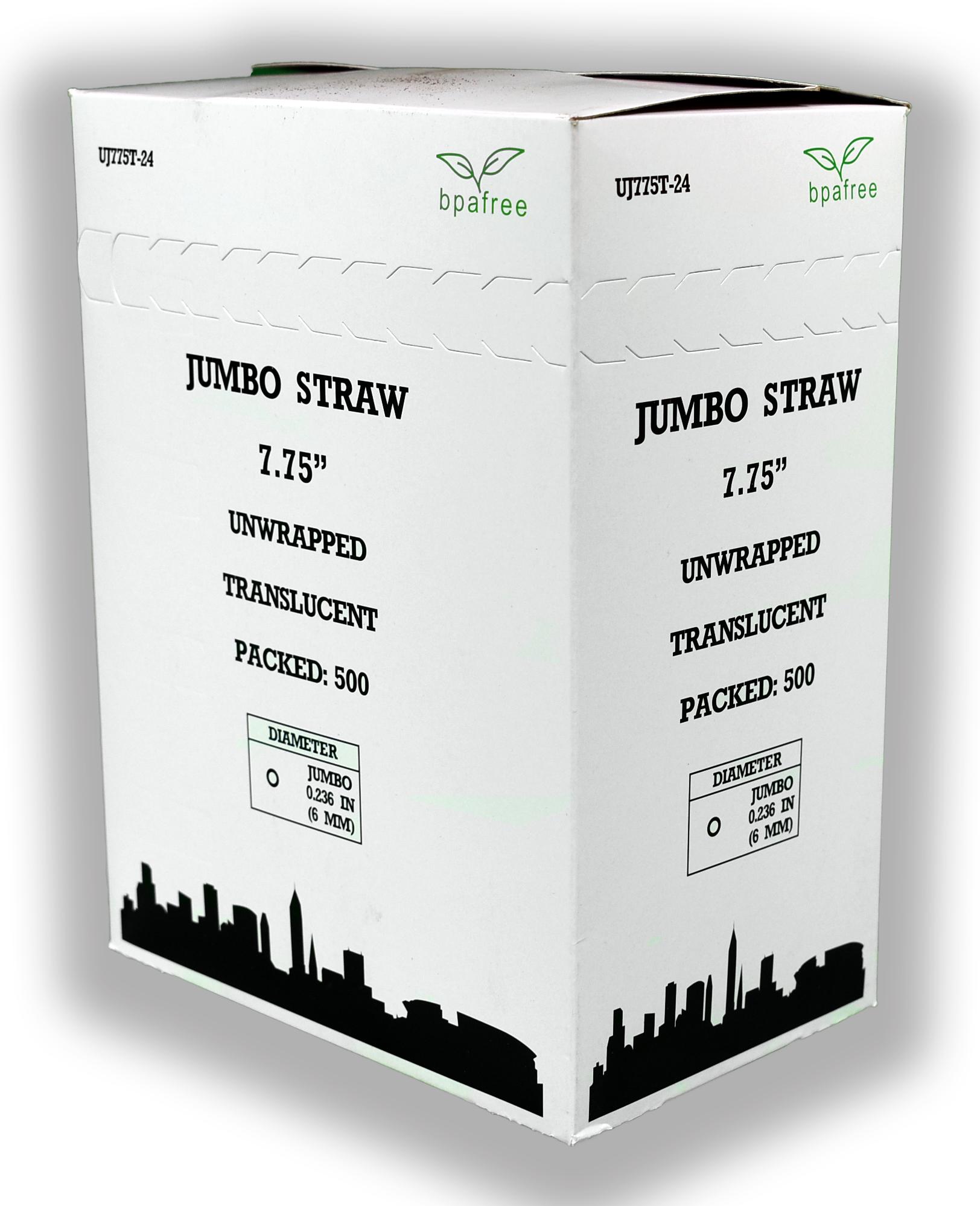 UNWRP JUMBO STRAW 7-3/4
